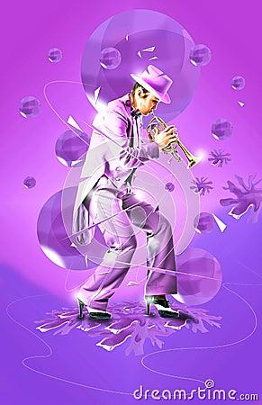 Jazz trumpet art