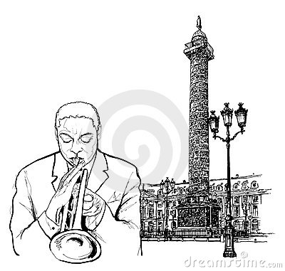 Jazz trumpeter in Paris