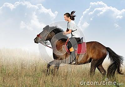 Jeździec koń.