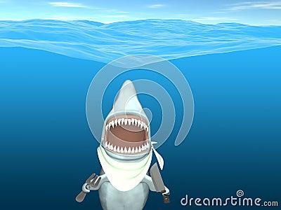 Je przygotowywającego rekinu