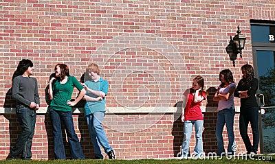 Jealous Group of teen girls