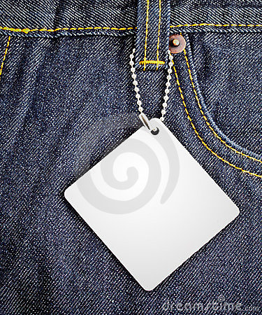 Jean background with blank tag 2