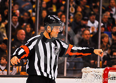 Jean Hebert NHL Referee Editorial Stock Image