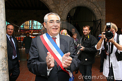 Jean-Marc Pujol, elected today Mayor of Perpignan Editorial Photo