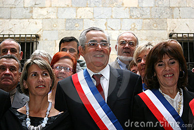 Jean-Marc Pujol, elected today Mayor of Perpignan Editorial Stock Photo