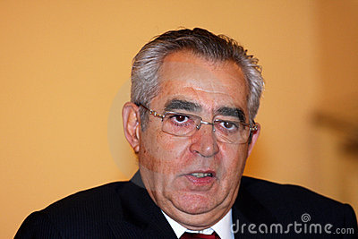 Jean-Marc Pujol, elected today Mayor of Perpignan Editorial Photo