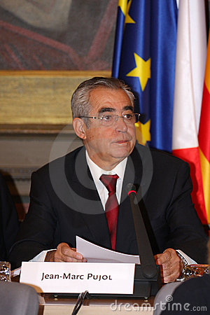 Jean-Marc Pujol, elected today Mayor of Perpignan Editorial Stock Image