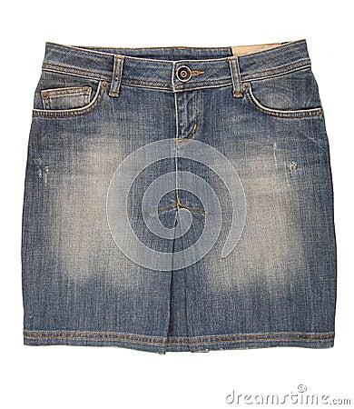 Jean mini- kjol