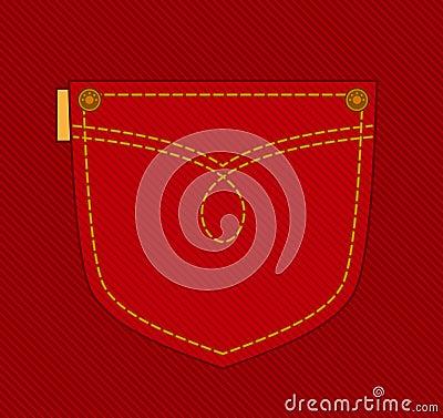 Jean pocket.