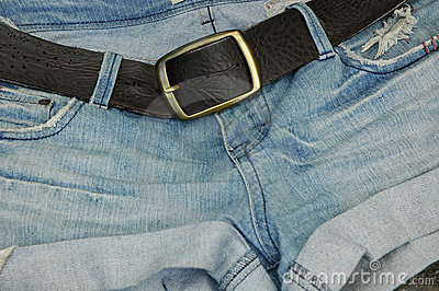 Jean Shorts with belt buckle
