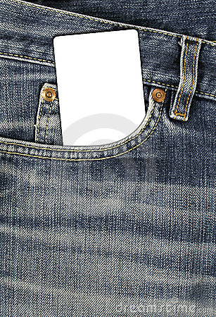 Jean texture with pocket and empty card