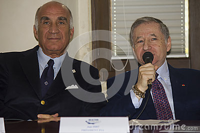 Jean todt portrait president fia and sticchi damiani Editorial Image
