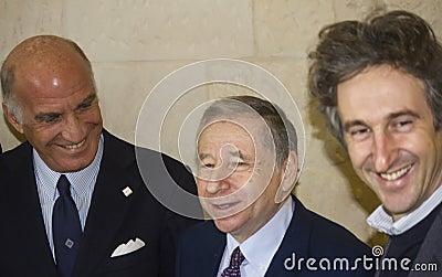Jean todt smiling paolo perrone sticchi damiani Editorial Image