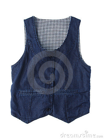 Jean vest isolated on white