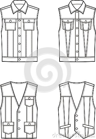 Free Jean Waistcoat Set Royalty Free Stock Photo - 103178105