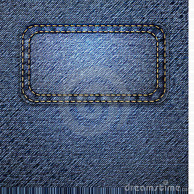 Jeans background with label. Vector