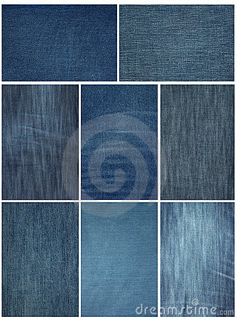 Jeans fabric close up