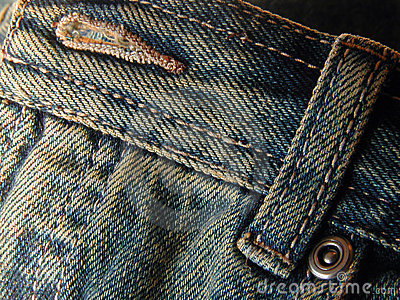 Jeans - front button and loop
