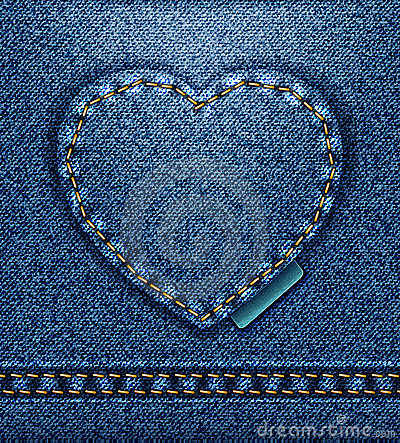 Free Jeans Heart  Royalty Free Stock Photography - 23163907