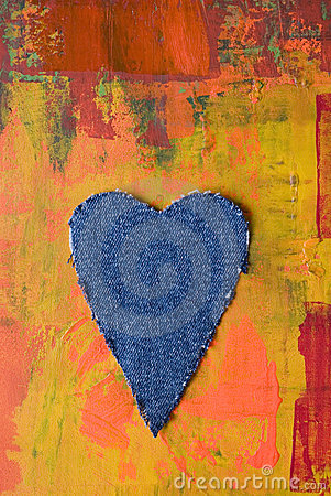 Free Jeans Heart Stock Images - 7936484