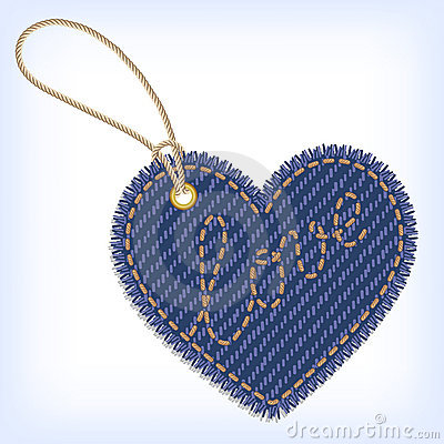 Jeans Heart Valentine Label Royalty Free Stock Images - Image: 22893989