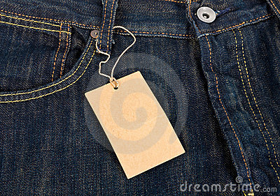 Jeans and label