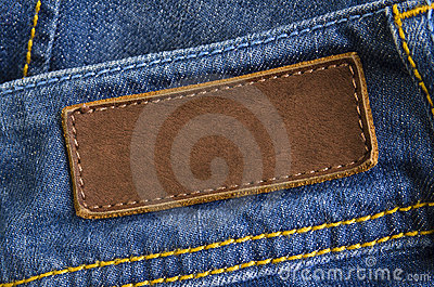 Jeans Leather Tag