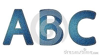 Jeans letters ABC