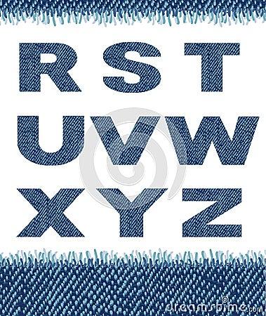 Jeans letters. (R-Z).