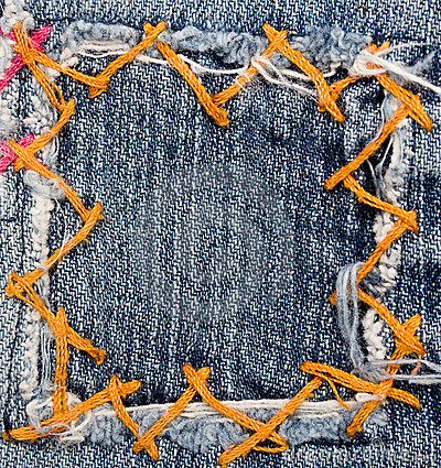 Free Jeans Patch Royalty Free Stock Images - 13202589