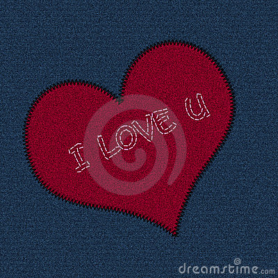Free Jeans Patch Valentine Royalty Free Stock Photography - 11072207