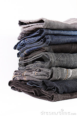 Jeans pile detail
