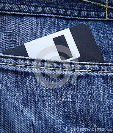 Jeans pocket Diskette