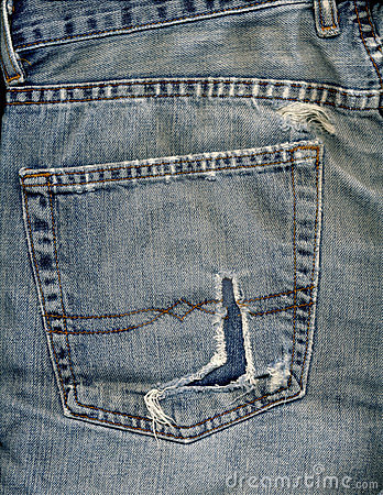 Jeans pocket and rip