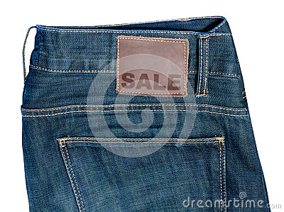 Jeans with Sale Sign