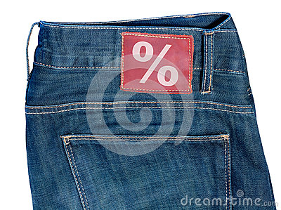 Jeans with Sale Symbol
