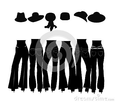 Jeans silhouettes