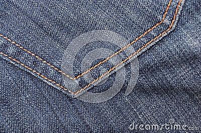 Jeans textile pocket