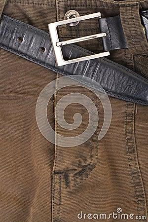 Jeans texture khaki colour