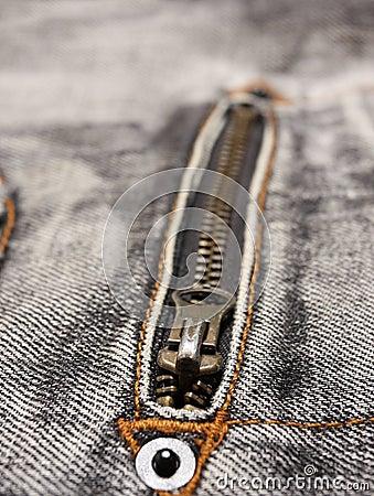 Jeans zipper detail