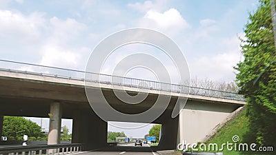 Jechać Karlsruhe Strasburski Niemiecki Autobahn zbiory wideo