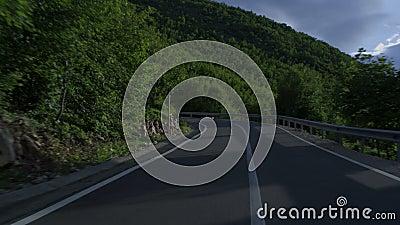 Jechać przez halnej wijącej drogi zbiory
