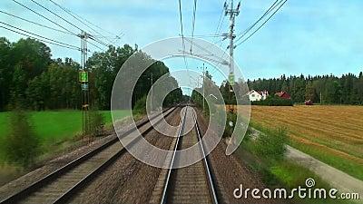 Jechać wysokiego prędkość pociąg zbiory wideo