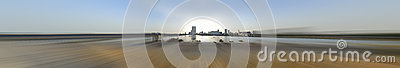 jeddah downtown at daylight in panoramic view
