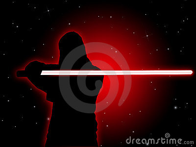 Jedi With Light Saber