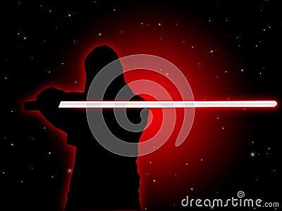 Jedi With Light Saber