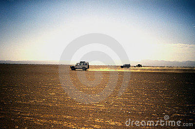 Jeep in the desert