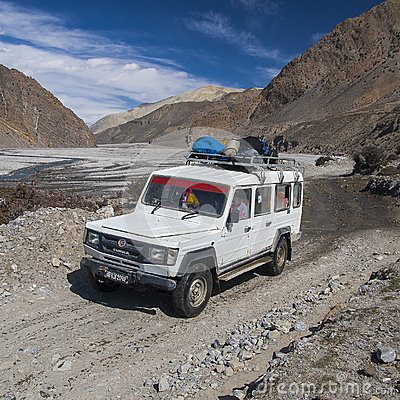 Free Jeep Is The Primary Means Of Transport In The Village Of Jomsom Royalty Free Stock Photography - 50300697