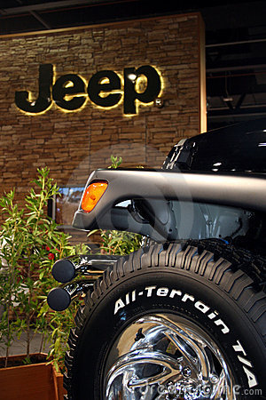 Jeep at a Motor Show Editorial Stock Photo