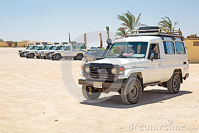 Jeep safari on the desert near Hurghada Editorial Photo